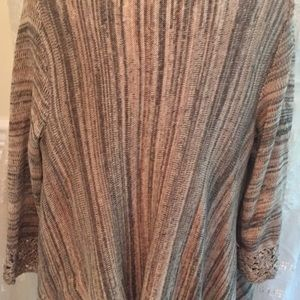 Forever 21 Sweaters - FOREVER 21 Contemporary Brown Crochet Fringe XS
